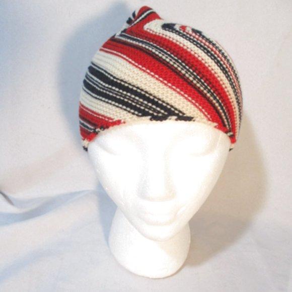 BALENCIAGA PARIS Striped Wool Knit HAT Cap Beanie